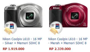 Nikon memang merupakan salah satu produsen kamera yang sangat terkenal Spesifikasi dan Harga Kamera Nikon Coolpix L610 [Review]
